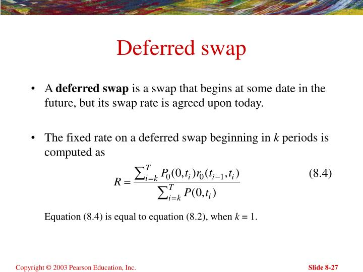 Deferred swap