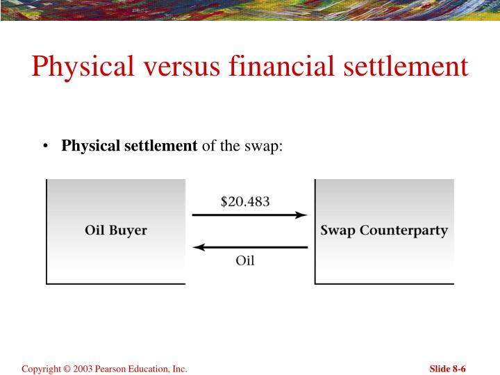 Physical versus financial settlement