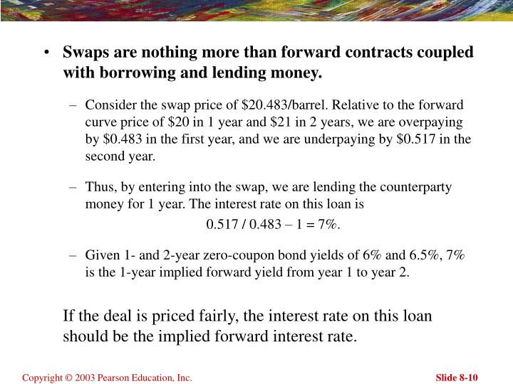 Swaps are nothing more than forward contracts coupled with borrowing and lending money.