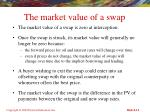 the market value of a swap