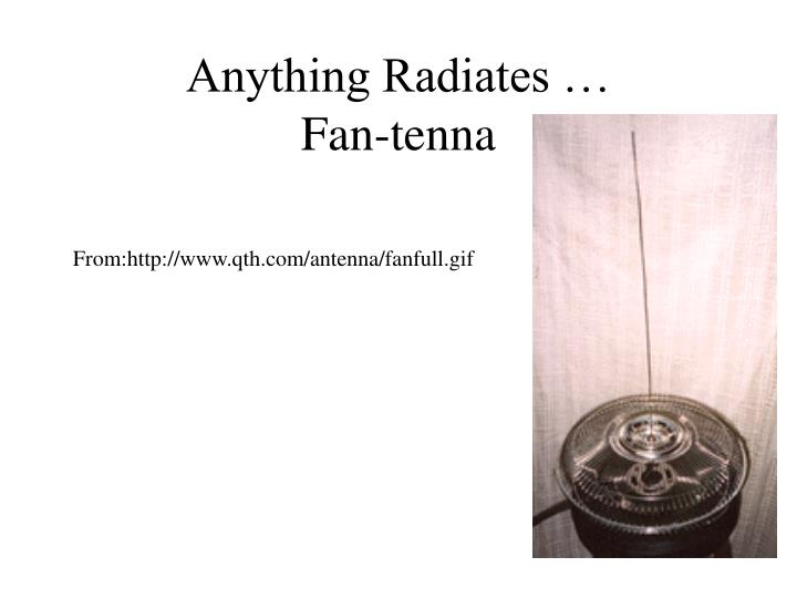 Anything Radiates …