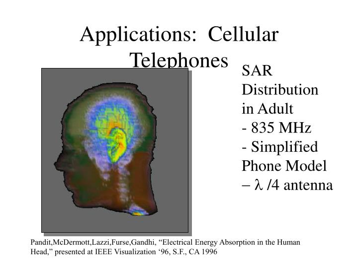 Applications:  Cellular Telephones