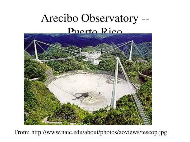 Arecibo Observatory --