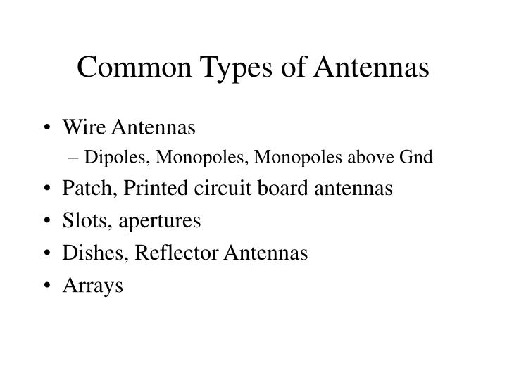 Common Types of Antennas