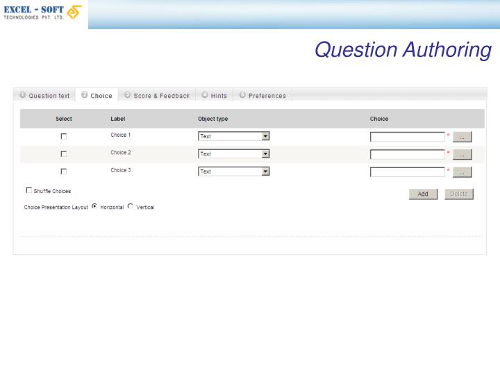 Question Authoring