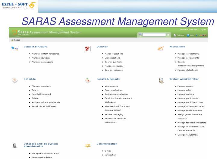 SARAS Assessment Management System