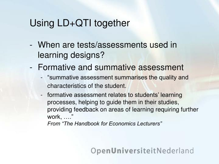 Using LD+QTI together