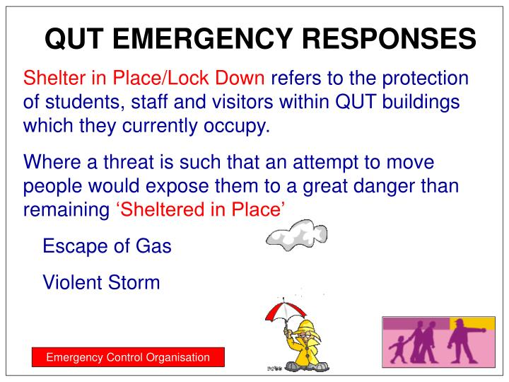 QUT EMERGENCY RESPONSES