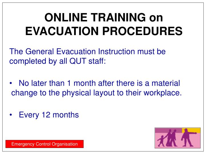 ONLINE TRAINING on EVACUATION PROCEDURES