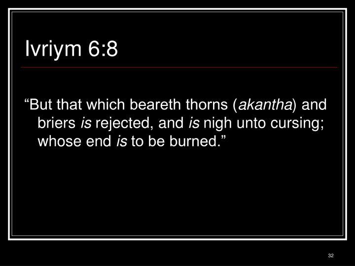 Ivriym 6:8