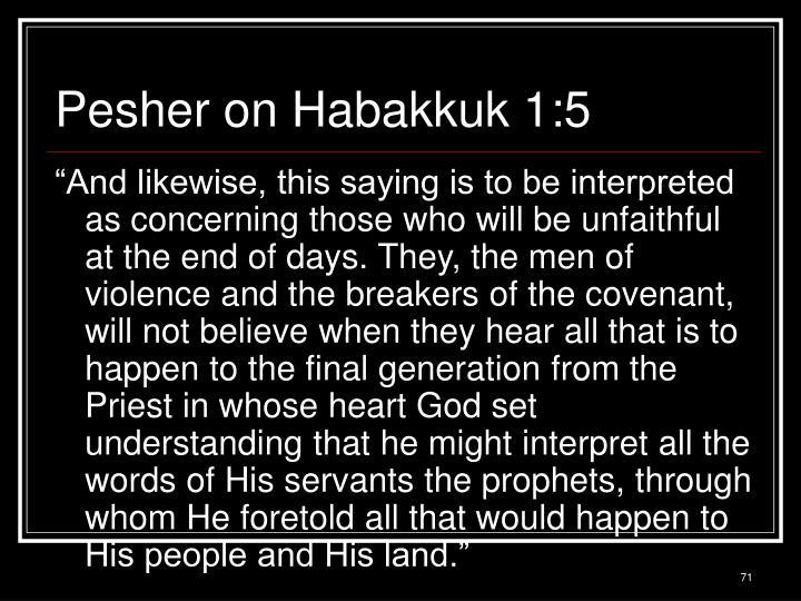 Pesher on Habakkuk 1:5