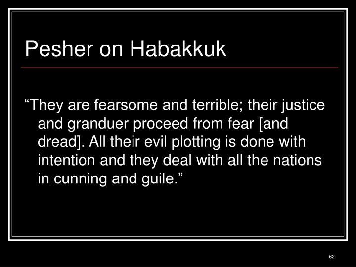 Pesher on Habakkuk