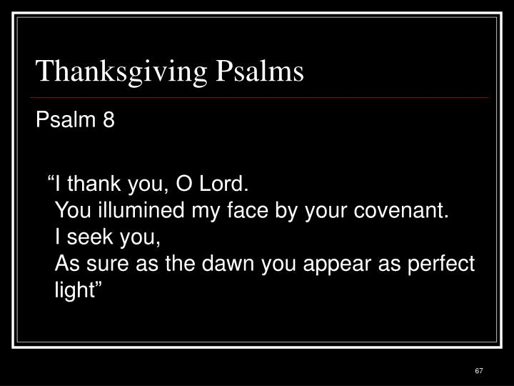 Thanksgiving Psalms