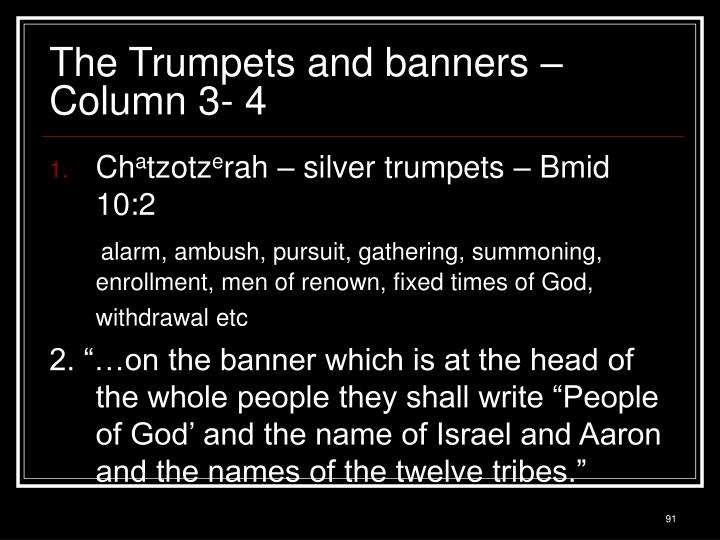 The Trumpets and banners – Column 3- 4