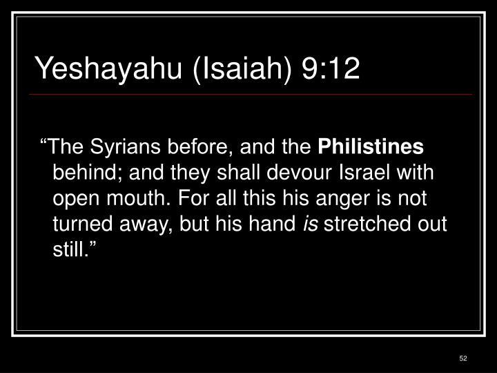 Yeshayahu (Isaiah) 9:12