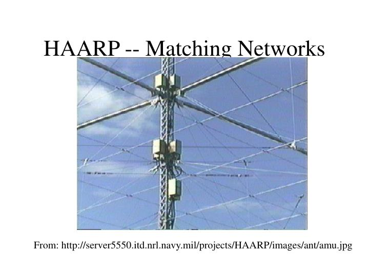 HAARP -- Matching Networks