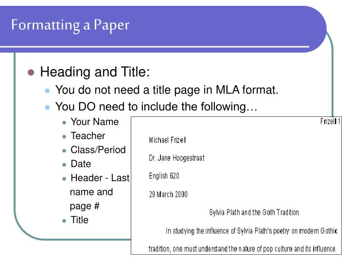 Formatting a Paper
