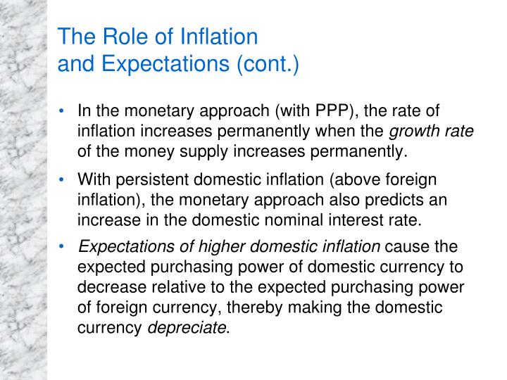The Role of Inflation
