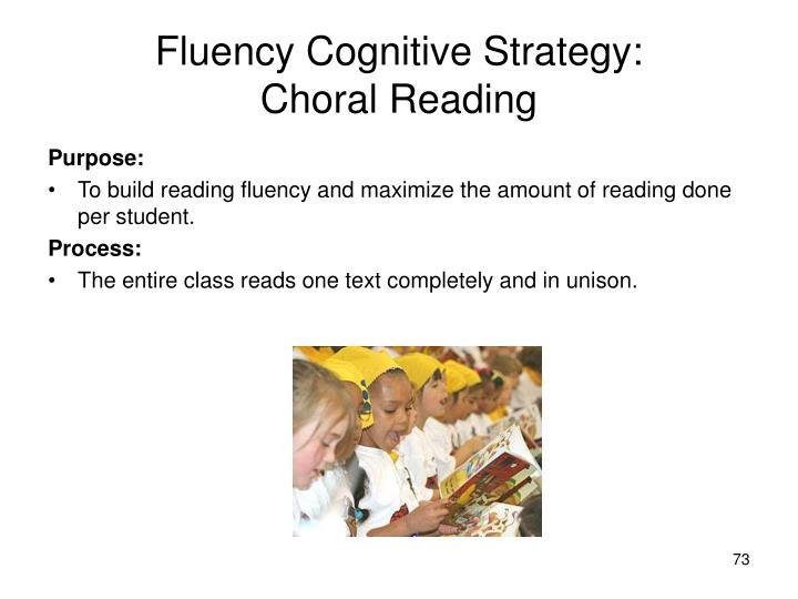 Fluency Cognitive Strategy: