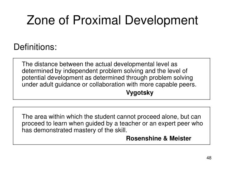 Zone of Proximal Development