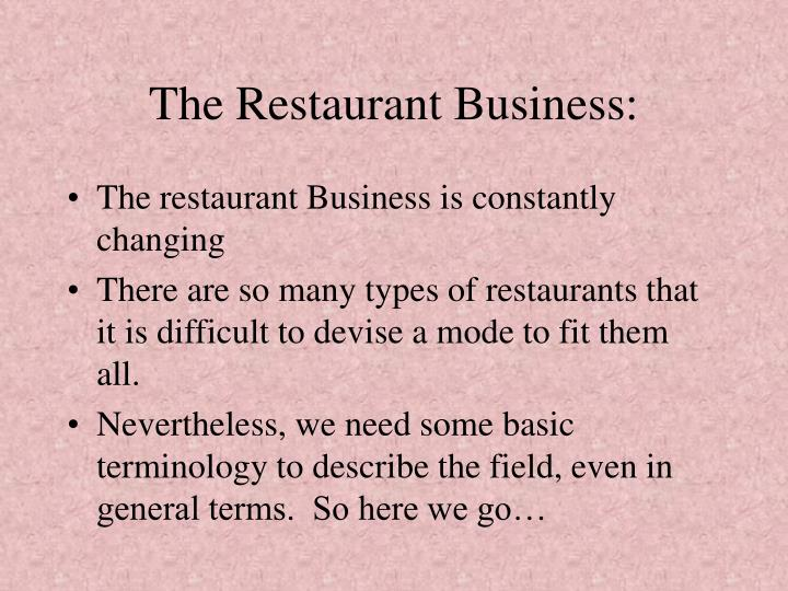 The Restaurant Business: