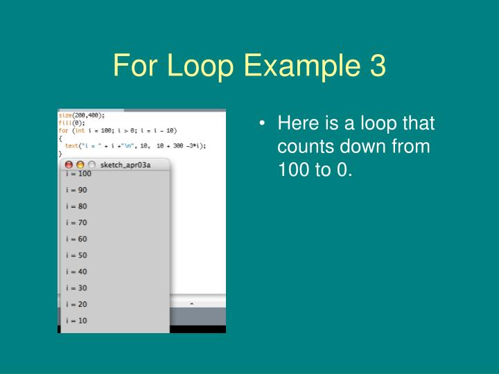 For Loop Example 3