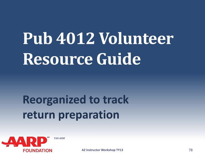 Pub 4012 Volunteer Resource Guide