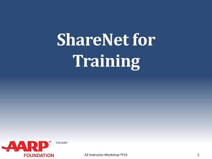 Sharenet for training