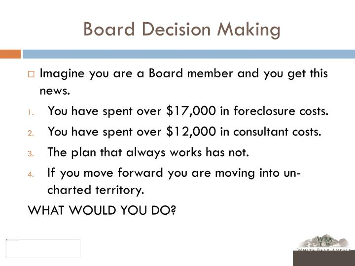 Board Decision Making