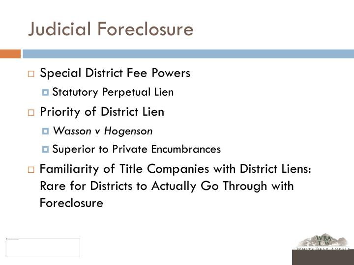 Judicial Foreclosure