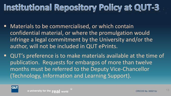 Institutional Repository Policy at QUT-3