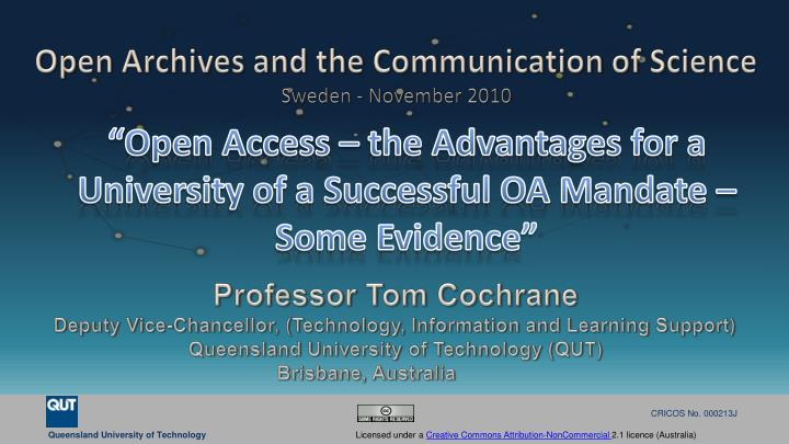 Open access the advantages for a university of a successful oa mandate some evidence