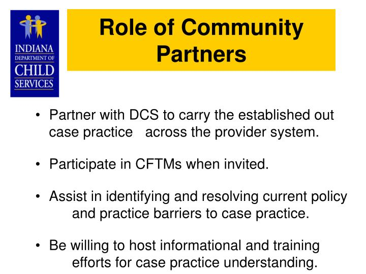 Role of Community Partners
