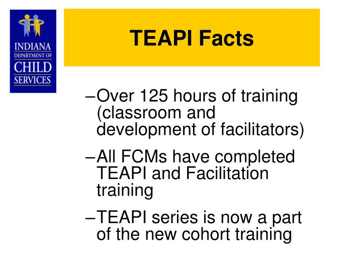 TEAPI Facts