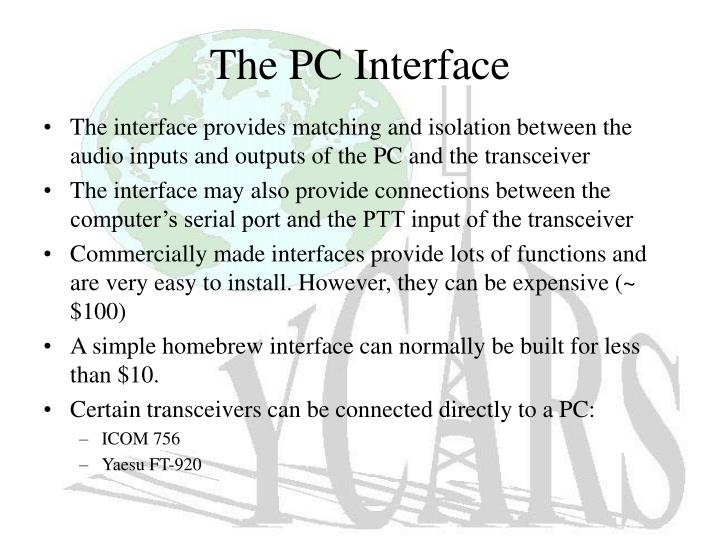The PC Interface