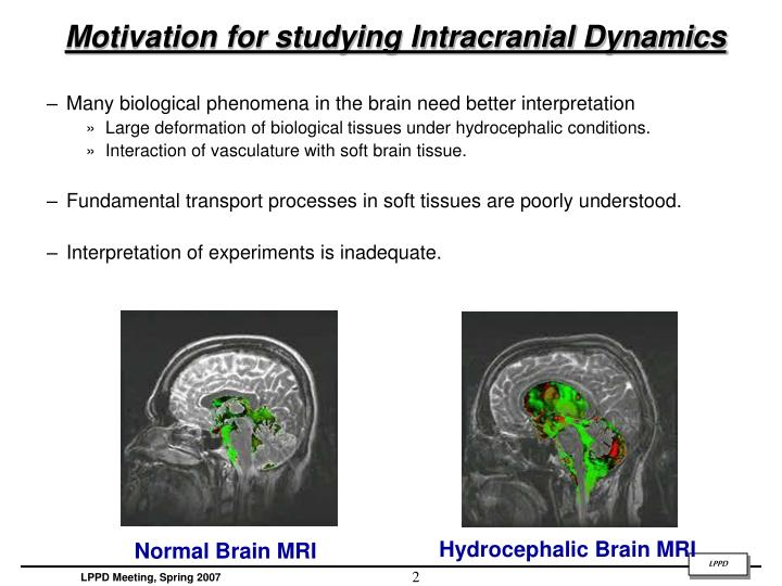 Motivation for studying intracranial dynamics
