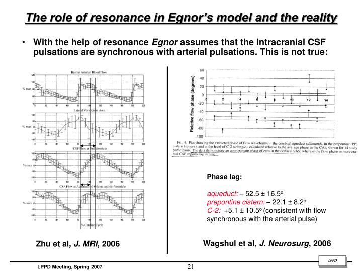 The role of resonance in Egnor's model and the reality