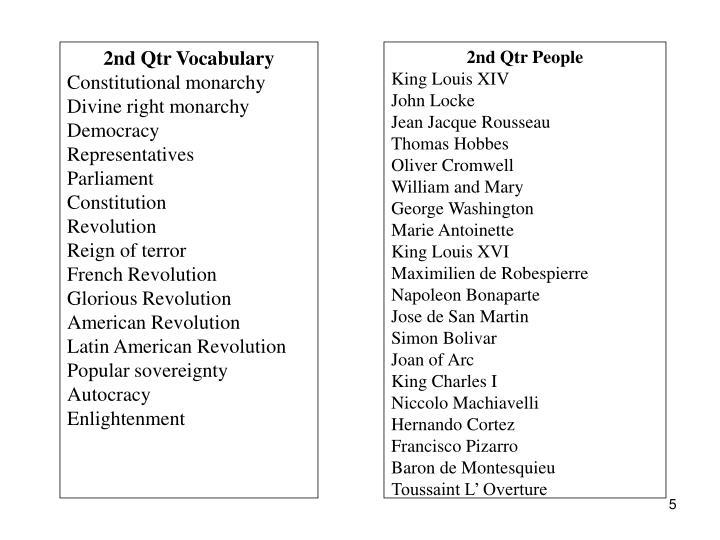 2nd Qtr Vocabulary