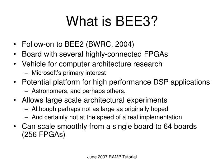 What is BEE3?
