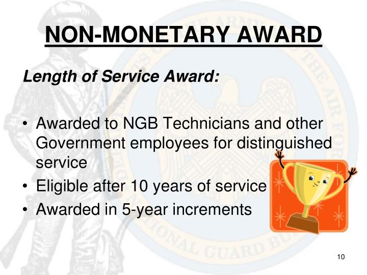 NON-MONETARY AWARD
