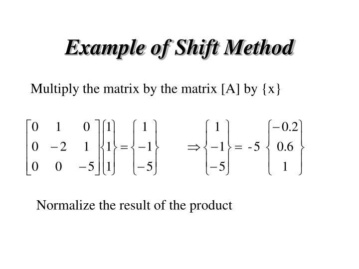 Example of Shift Method