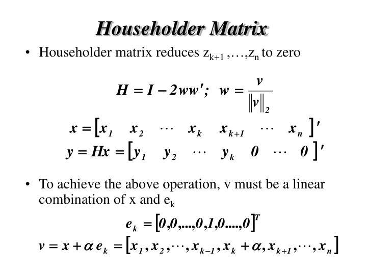 Householder Matrix
