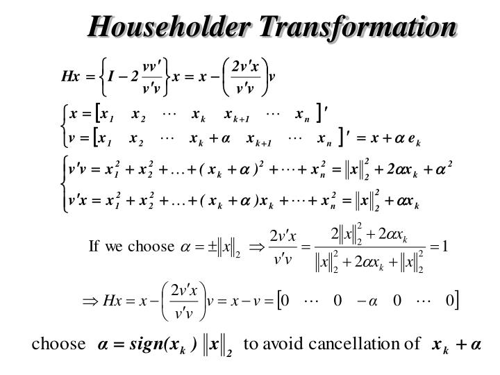 Householder Transformation