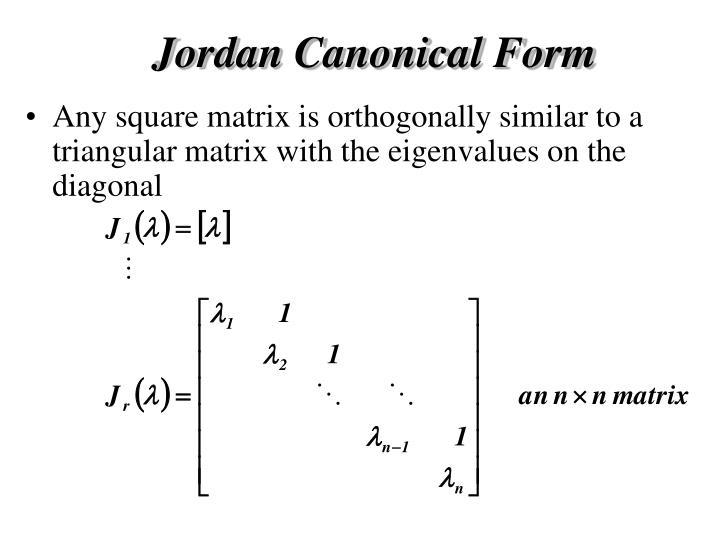 Jordan Canonical Form