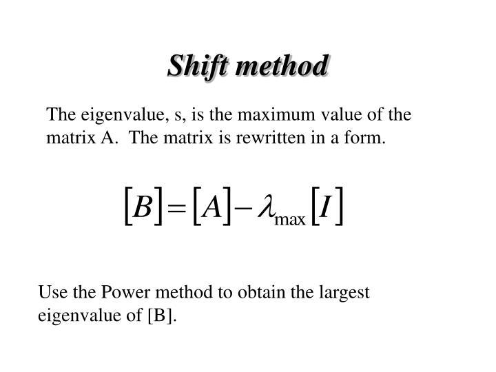 Shift method