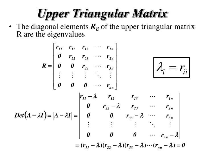 Upper Triangular Matrix
