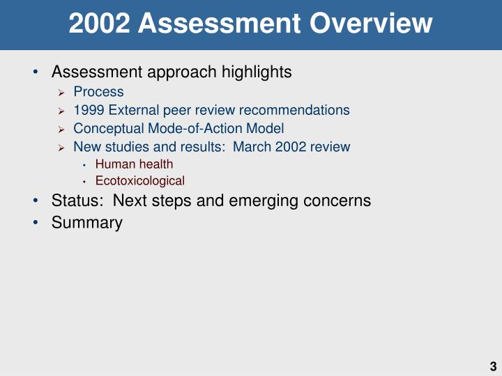 2002 Assessment Overview