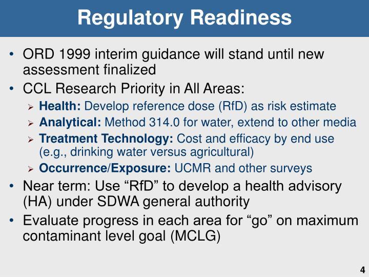 Regulatory Readiness