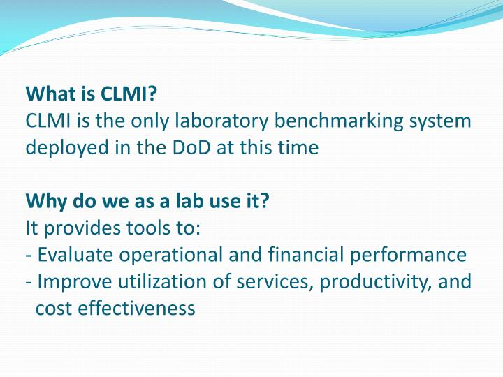 What is CLMI?