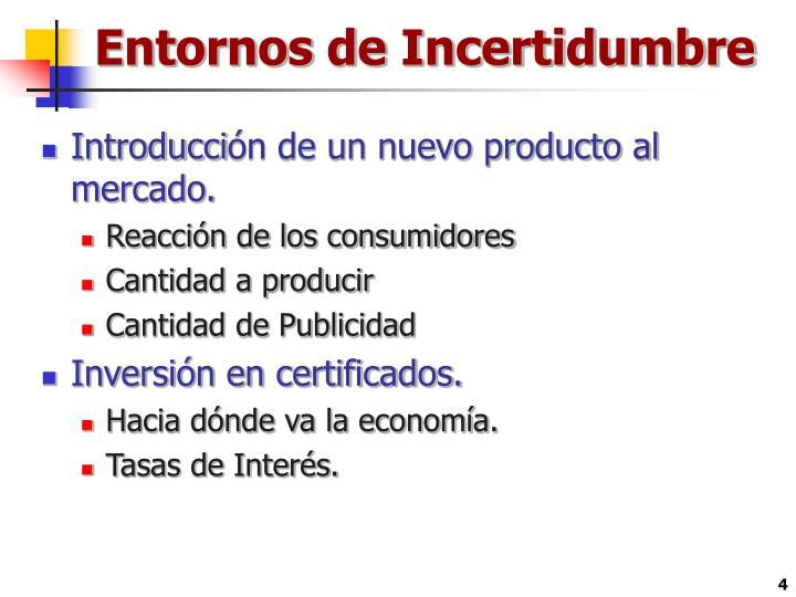 Entornos de Incertidumbre